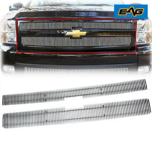 2007 2010 Chevy Silverado 2500 3500 Hd Vertical Grille Grill Polished 08 09