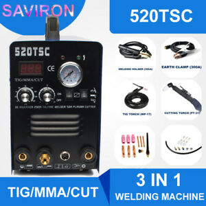 Tig mma plasma Cutter 3 In 1 Functional Welding Machine Cutting Welder 110 220v