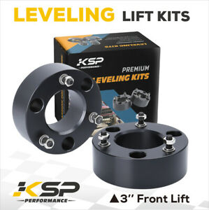 Silverado 1500 3 Front Leveling Lift Kit For Chevy Gmc 2007 2019 4wd 2wd Black