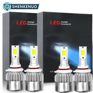 Combo 9005 9006 Ice Blue 8000k 60000lm Cree Led Headlight Kit Bulb High Low Beam