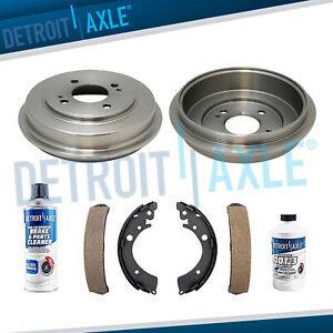 Rear Brake Drums Ceramic Shoe For 2001 2002 2003 2004 2005 Honda Civic L4 1 7l