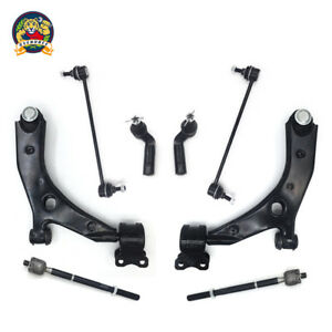 New 8pc Front Lower Control Arm Set Suspension Kit Mazda 3 Non turbocharged