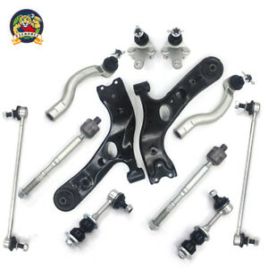 Suspension Kit Front Lower Control Arm Tie Rod For 2006 2014 Toyota Rav4