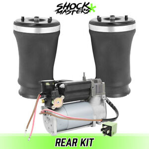 Rear Air Leveling Suspension Springs Air Compressor For 2001 2003 Bmw 525i
