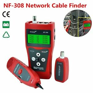 Network Lan Ethernet Telephone Cable Tester Wire Tracker Rj45 Rj11 Finder Lcd Q9