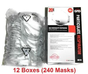 Sas 8610 Safety Masks N95 Particulate Respirator 12 Boxes masks 240