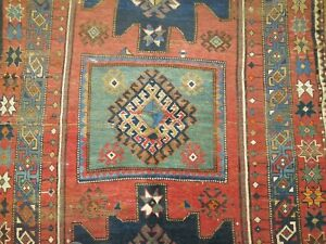Antique Caucasian Shirvan Bordjalou Kazak Rug Size 4 6 X8