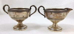 Fisher Silversmiths Inc Sterling Silver Weighted Creamer And Sugar Bowl 765