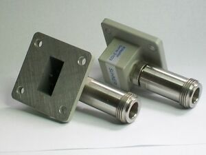 Huber Suhner Microwave Wr75 10 15 Ghz Microwave Waveguide Adapter Square Flange