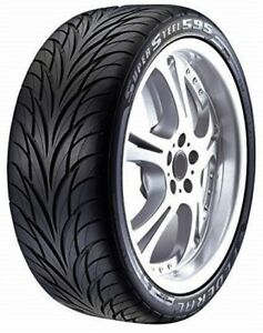 2 New 225 55zr17 Federal Ss 595 All Season Uhp Tires 55 17 R17 2255517 55r