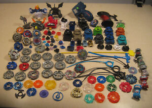 Beyblade Metal Plastic Spinners Characters Rip Cords Launchers Lot E