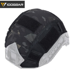 IDOGEAR Camouflage Tactical Helmet Cover For FAST Helmet Paintball Airsoft Gear