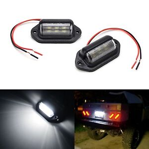 6 Smd Led License Plate Tag Lights Lamps For Truck Suv Trailer Van Universal