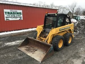 2000 John Deere 250 Skid Steer Loader W Cab Only 600hrs
