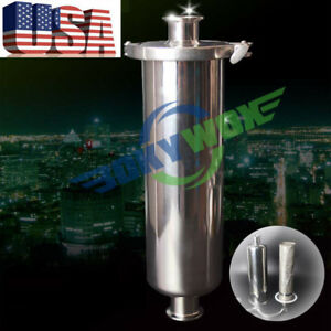 1 5 Tri Clamp Sanitary Stainless Steel 304 Inline Straight Strainer Filter