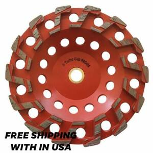 7 S Segment Grinding Wheel 20 25 Diamond 5 8 11 Arbor For Concrete Epoxy