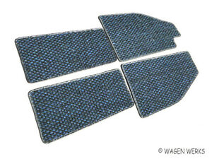 Vw Bug Coco Mats Bug 1950 To 1957 Blue And Black