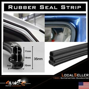 Car Door Edge Protector Rubber Seal Trim Weather Stripping Auto Rv Camper 15ft