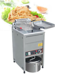 20l Large Capacity Commercial Electric Fryer Stainless Steel Snack Machine 220v