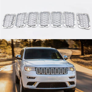 Chrome Front Grille Trim Insert Grill Guard Fits Jeep Grand Cherokee 2017 2019