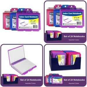 C line Spiral Bound Index Card Notebook With Tabs Includes 60 Ruled 3 X 5 Inche