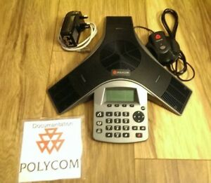 Polycom Soundstation Duo Hd Analog Ip Conference Phone Mic Psu Cables