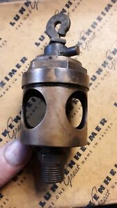 Antique Penberthy Brass Oiler For Hit Miss Engine Steam Rod Oiler