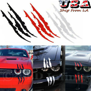 Universal Car Headlight Monster Claw Scar Scratch Decal Hood Body Vinyl Decor