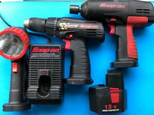 Snap On Ct310 3 8 Drive 12v Cordless Impact Wrench Drill Cdr 3450 Andwork Light