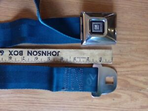 1969 71 Gm Deluxe Stainless Center Occupant Lap Seat Belt Dark Blue Single