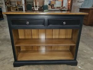 2 Drawer Bookshelf Console Sofa Table Pottery Barn Restoration Hardware Style
