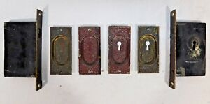Antique Victorian Style Pocket Door Lockset C 1890 Architectural Salvage