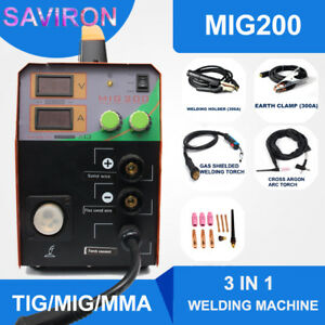 Tig mig mma Welding Machine Mag Gassless Welder No Gas Portable Inverter 200a