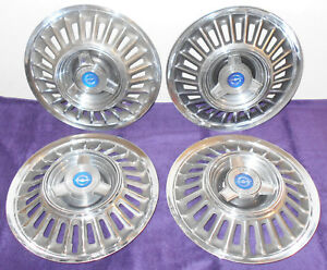 1967 1968 Ford Thunderbird Landau Orig 15 Deluxe Spinner Hub Cap Wheel Covers