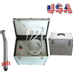 Portable Dental Delivery Cart Style With Compressor handpiece suction System