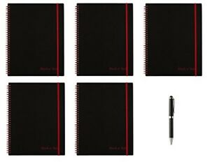 Black N Red Twin Wire Poly Cover Notebook 11 X 8 1 2 Black red 70 Ruled Sh