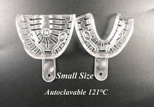 200pair 400pcs Dental Small Alginate Impression Tray Inlay Clear Autoclave 121