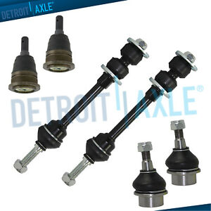 For 2006 2007 Dodge Ram 1500 Front Upper Lower Ball Joints Sway Bar Links 2wd