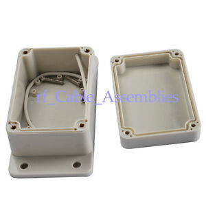 10pcs Waterproof Plastic Electronics Project Box Enclosure Case Diy 50x69x100mm
