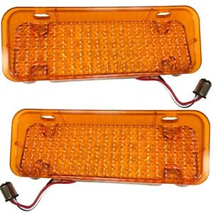 1971 1972 Chevy Pickup Truck Parking Turn Light 34 Led Assembly Amber Lens Pair