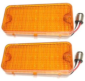 1967 1968 Chevy Pickup Truck Parking Turn Light 27 Led Assembly Amber Lens Pair