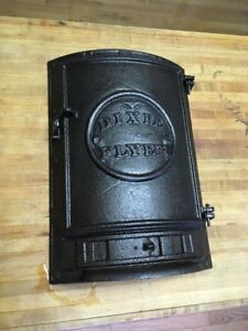 Vintage Antique Cast Iron Wood Stove Door Dixie Flyer Nashville