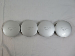 1994 1998 Ford Mustang Pony Wheel Center Caps Oem Factory Ford F4zc 1a096 cb