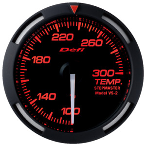 Defi Red Racer 52mm Temperature Temp Gauge With White Needle Df06707