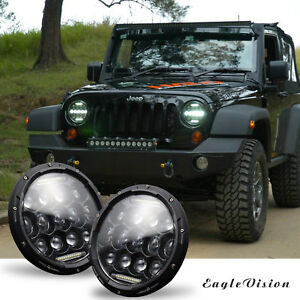 7 300w Led Headlights Hi lo Beam Drl Headlamp Fog Light For Jeep Wrangler 07 17
