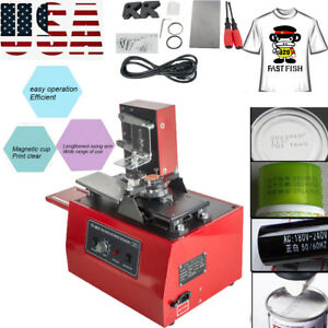Electric Pad Printer Printing Machine T shirt Ink Print Pvc Mug Ball Pen Equipme