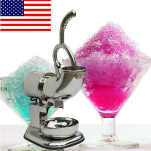 New Ice Shaver Machine Sno Snow Cone Maker Shaved Icee Electric Crusher 110 220v
