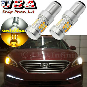 2x 1157 Switchback White Amber 31 Smd Led Bulbs Front Turn Signal Lights