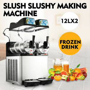 24l Frozen Drink Slush Slushy Making Machine Electric Air Cooling