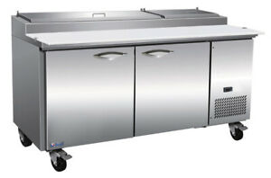 Ikon Ipp71 Pizza Prep Preparation Table 2 Section 70 4 5 w With 9 1 3 Gn Pans